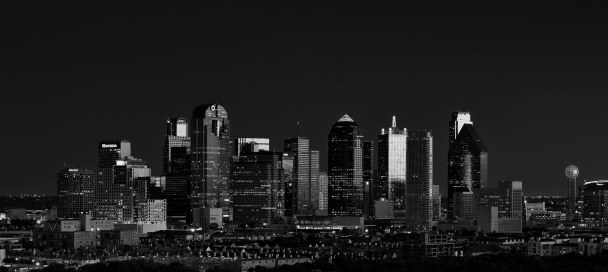 Dallas Skyline In B&W (151 of 365)